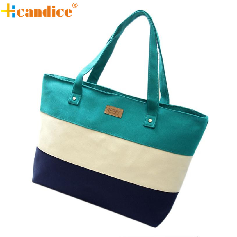 Naivety Handbags New Fashion Women Canvas Striped Totes Bags JUN7U drop shipping