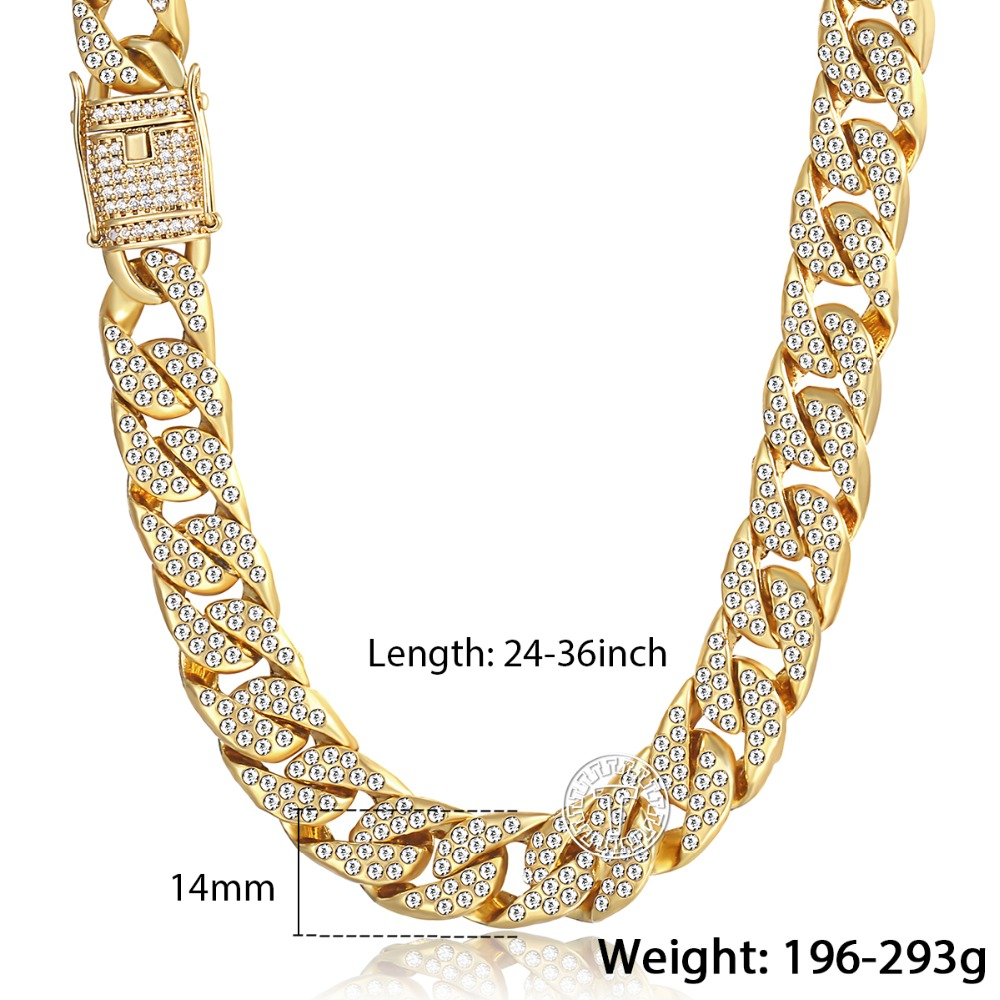 Iced Out Miami Cuban Link Chain Necklace