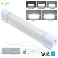 LETOUR LED Wireless Magnet Ceiling Lamp Emergency Lights 5 Dimming Rechargeable Working Lamp Outdoor Camping Endurance