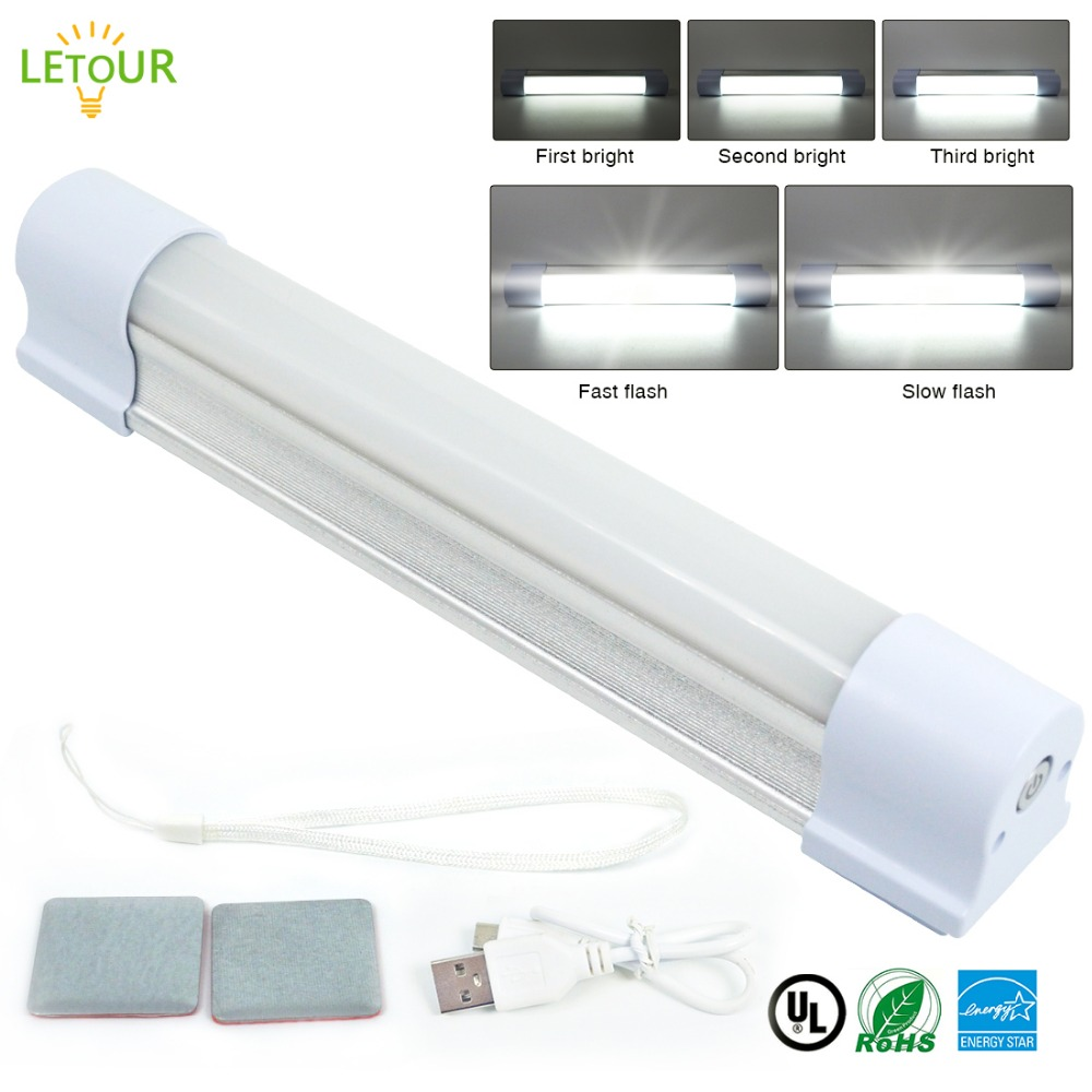 LED Bar Light Wireless LED Tube 12V 30W ~ 120W 5 Dimmer Levels Rechargeable Magnets Work Light High Lumens Car Emergency Light ...