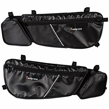 Front Left&Right Driver Side Carbon Door Bags&Pad For Can Am Maverick X3 2017-2018 Models