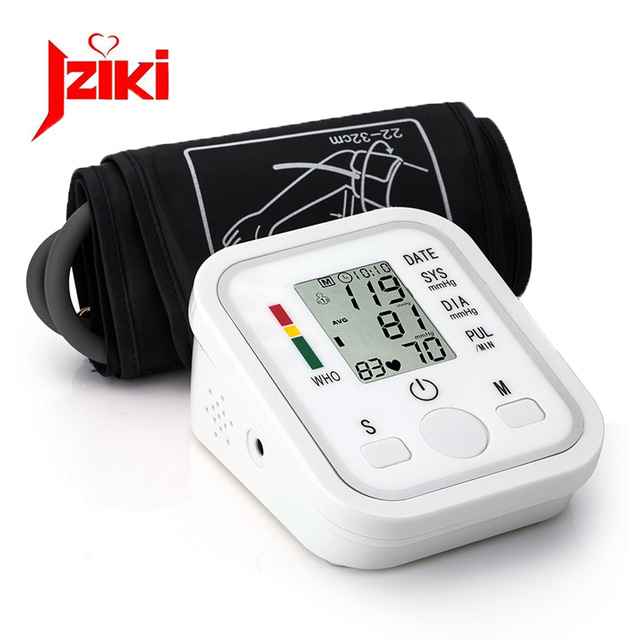 Home Health Care 1pcs Digital Lcd Upper Arm Blood Pressure Monitor Heart Beat Meter Machine Tonometer