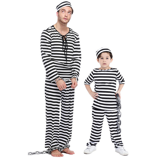 new parentchild halloween costume prisoners cosplay family costume girls boys kids clothes exotic festival disfraces 14037h