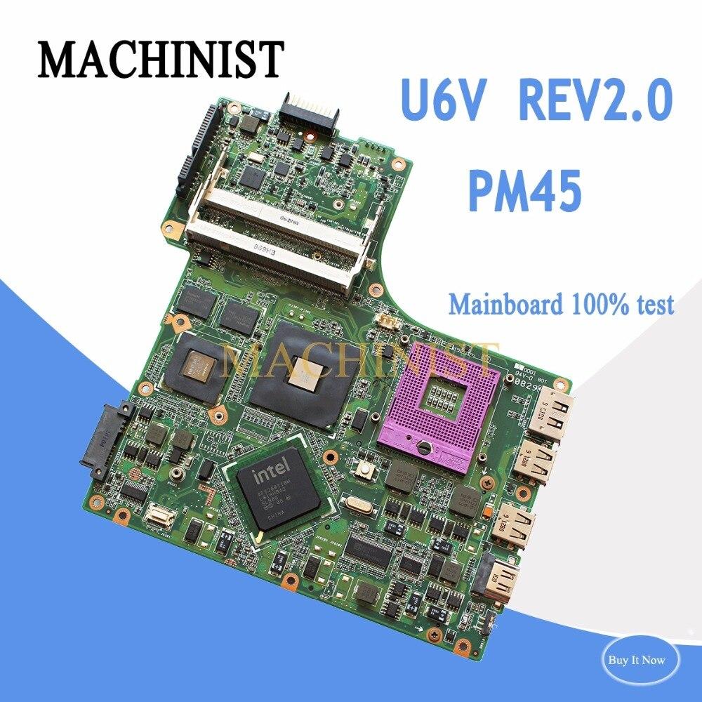 08G2006UV20R Pour ASUS U6V ordinateur portable carte mère REV2.0 PM45 PGA478 DDR2 9300 M 08G2006UV20R 100% testé intacte