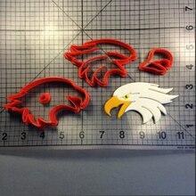 Flying Eagle Head Custom Made 3D Printed Fondant Cupcake Cake Decorating Tools Cookie Cutter Set цены