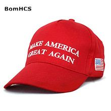 BomHCS Trump Make America Great Again Hats US Flag Cap Embroidered Casquette