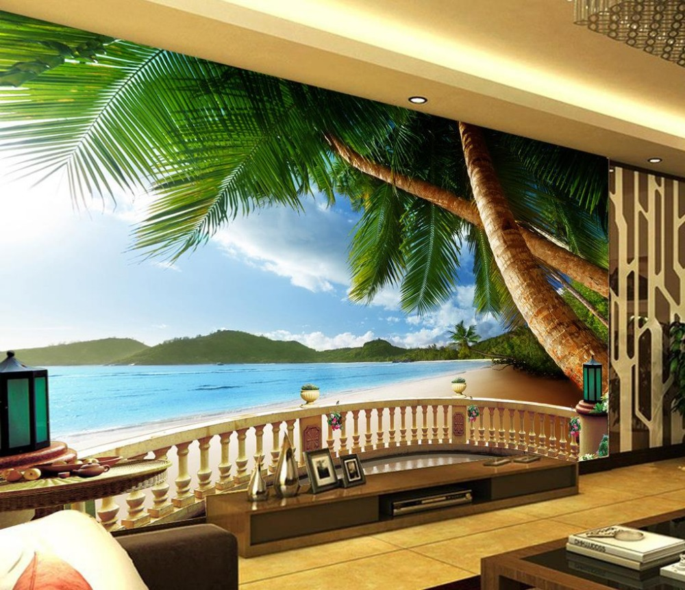3d mural painting picture more detailed picture about landscape