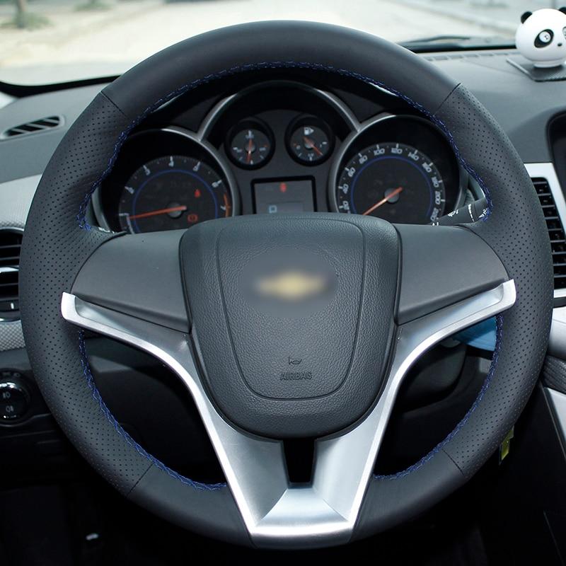 Chevrolet Cruze Aveo üçün BANNIS Qara Süni Dəri DIY Əl ilə - Avtomobil daxili aksesuarları - Fotoqrafiya 3