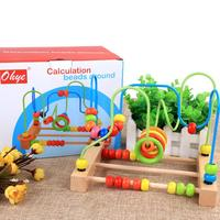 Counting Bead Educational Toys Abacus Maze Roller Coaster Wooden Baby Toy Wooden Montessori Educational Toy