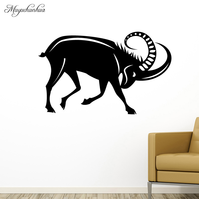 Muyuchunhua Aggressive Bull Wall Stickers Modern Fashion Wall Paper for Home Decor Living Room Background Wall Art Decal