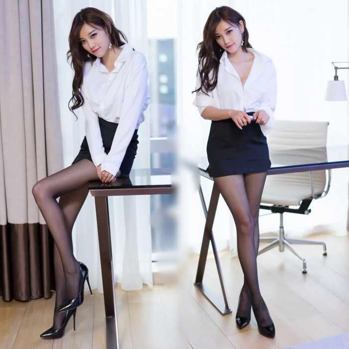 Sexy women wearing stockings and skirts