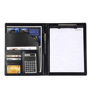 Image 3 - A4 Leather Folder Padfolio Multi function Office Documents Organizer Planner Notebook School Writing Pads Folder with Calculator