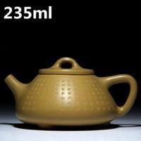 Chinese Handmade Tea Pots 235ml Ceramic Kung Fu Tea Set Porcelain Pots Authentic Yixing Zisha Teapots Purple Clay Mud Tea Pot