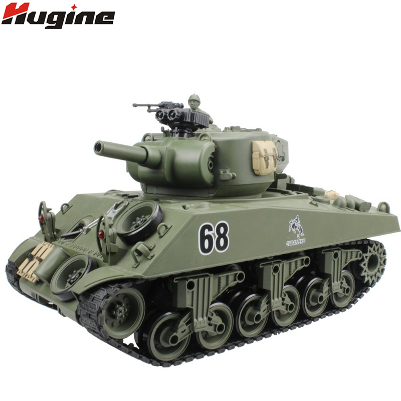 RC Tank USA Sherman M4A3 Chariot 15 Channel 1/20 Tactical Vehicle Main Battle Military Tank Model With Shoot Airsoft Hobby Toys