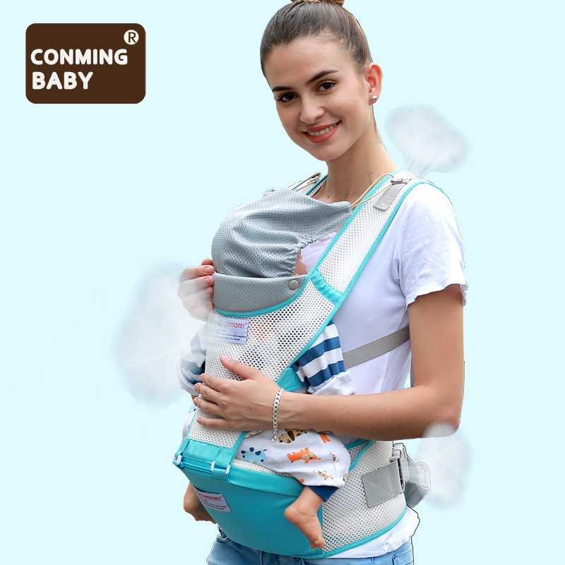 0 36 Months 20kg Summer Breathable Mesh Ergonomic Baby Carrier Hipseat Backpack Kangaroo Baby Sling Wrap Hip Seat Waist Stool-in Backpacks & Carriers from Mother & Kids
