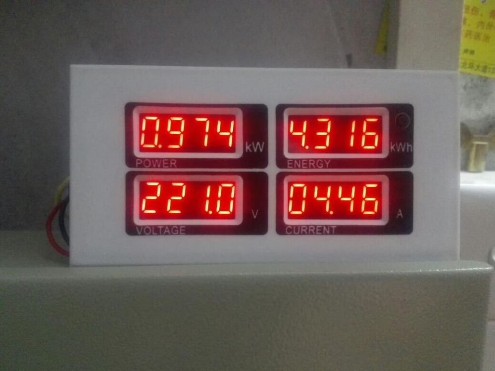 100A AC Digital Power energy Meter Monitor Voltage KWh Time Voltmeter Ammeter
