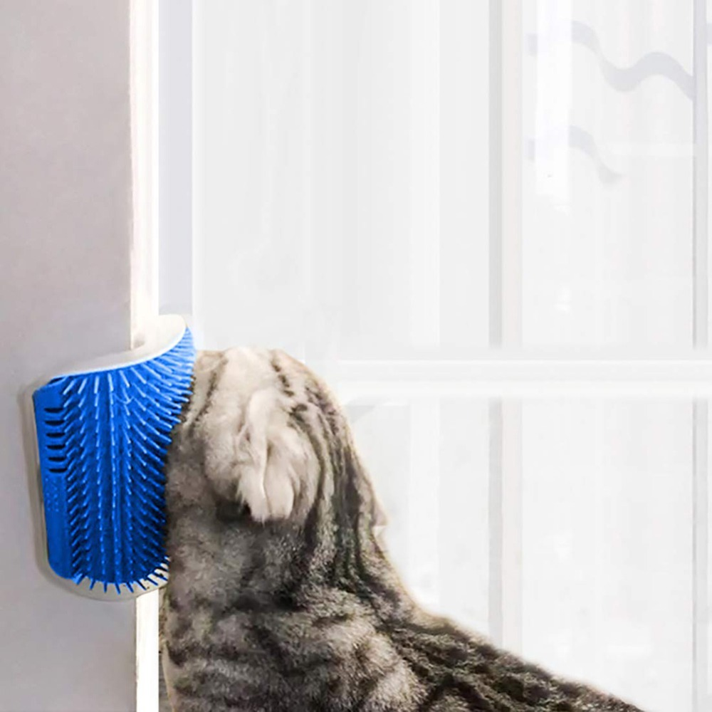 Cats Brush Corner Massage Brush Self Groomer Comb Brush With Catnip Cat Rubs Tickling Comb Pet Hair Removal Grooming Cleaning