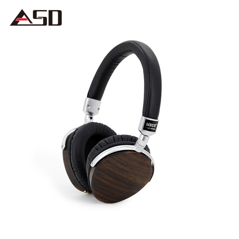 ASD Original MSUR N350 Noise Isolating HiFi Wooden Metal Headphone Headset Earphone With Beryllium Alloy Driver Portein Leather 100% original high blon b6 hifi wooden metal headband headphone headset earphone with beryllium alloy driver leather cushion