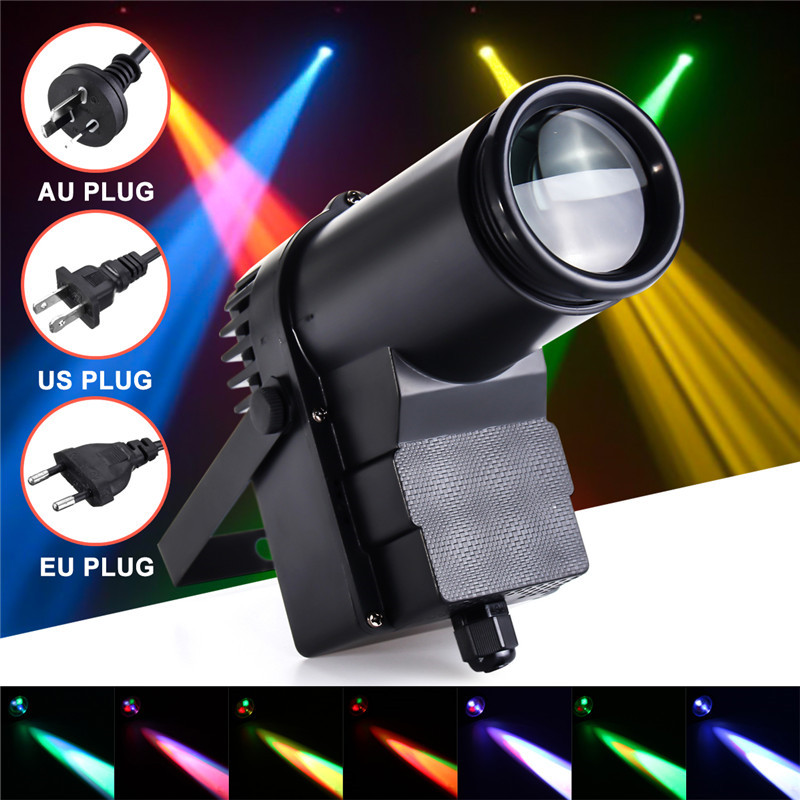 AC110-240V 10W DMX RGBW LED Stage Light Pinspot Light Beam Spotlight 6CH Professional DISCO KTV DJ Stage Lighting EffectAC110-240V 10W DMX RGBW LED Stage Light Pinspot Light Beam Spotlight 6CH Professional DISCO KTV DJ Stage Lighting Effect