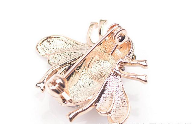 Rhinestone Bee Brooch