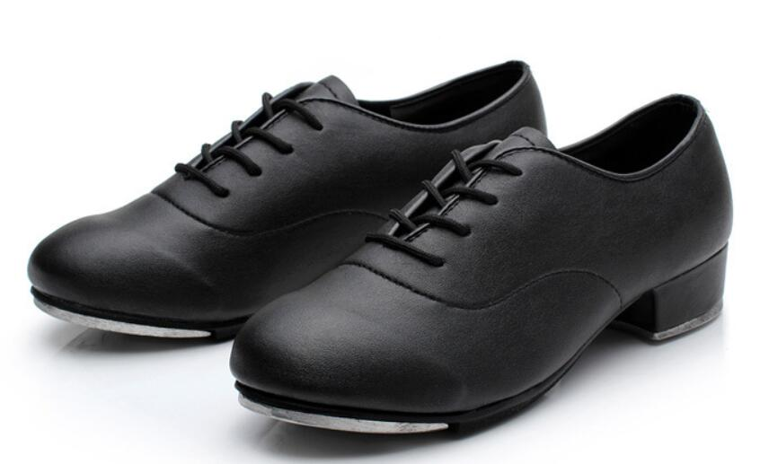 Image 4 - 2019 Size 25 44 Adult Men Children Boy Tap Dance Leather or PU Oxford Lace Up Shoes Girls Women Tap Dancing shoes WD194-in Dance shoes from Sports & Entertainment