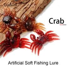 Deshion Artificial Crab Lure Bait 3D Simulation Soft Fish Bait Fishing Lures for Bass Trout Fishing Tackle Accessories Wholesale стоимость