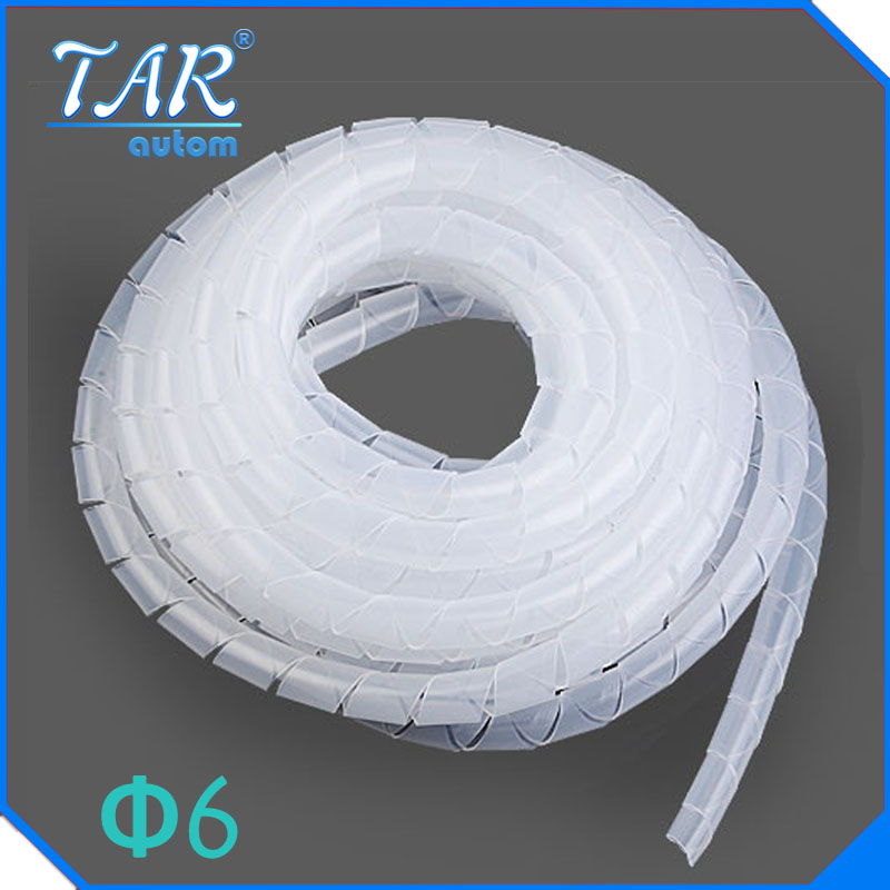 10M Dia 6mm Spiral Cable wire Wrap Tube Wrap Tube Cordon spiral bands Spiral Wrapping PE Beam line protective 1m 3 3ft 15mm dia spiral wrapping bands cable organizer wrap w wire guide clip