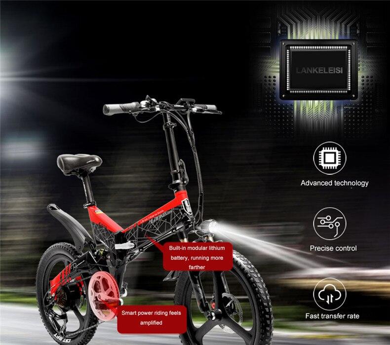 HTB1LdTlacfrK1RkSnb4q6xHRFXar - 20inch folding electric mountain bicycle 48V400W high speed motor e-bike range 70-100km lightweight Hybrid  EMTB electric bike
