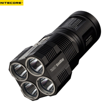 Rechargeable Flashlight NITECORE TM26GT 4 * CREE XP-L HI V3 LED max. 3500LM Beam Distance 704M + 18650 3500mAh li-ion batteries цена