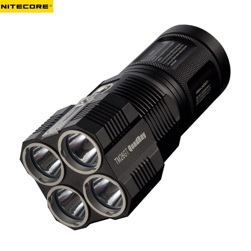 Rechargeable lampe de Poche NITECORE TM26GT 4 * CREE XP-L SALUT V3 LED max. 3500LM Faisceau Distance 704 M + 18650 3500 mAh li-ion batteries
