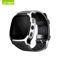 Leegoal T8 Bluetooth Smart Watch With Camera Facebook Whatsapp Support SIM TF Card Call Smartwatch Men