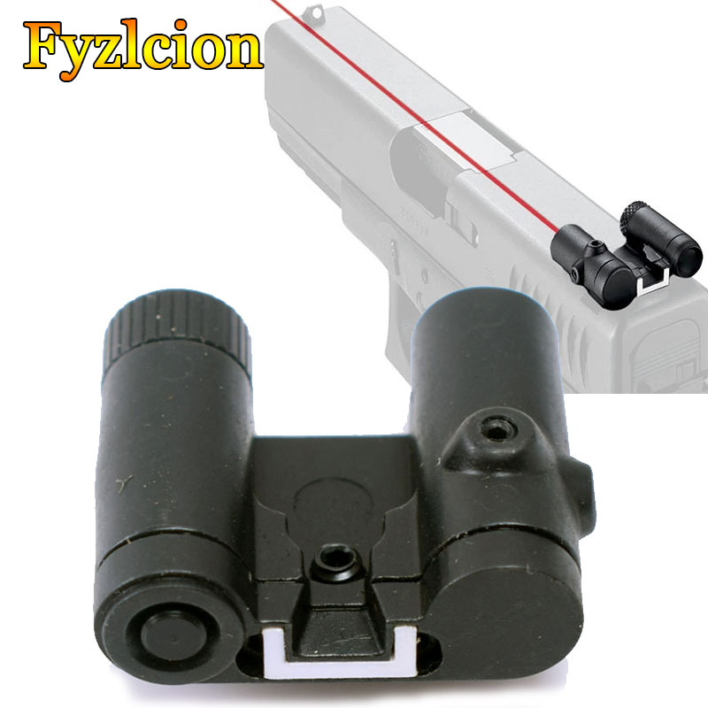 Tactical Accessories Glock 17 19 Steel Rear Red Laser Sight Red Dot Aiming Scope Glock Sight For Hunting Glock