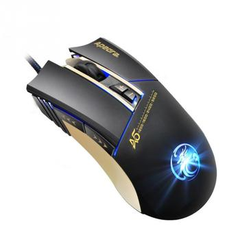Gaming Mouse Wired USB Interface  A5 Cable Game Macro Definition Mouse Optical Gamer Mouse For Video Game เมาส์