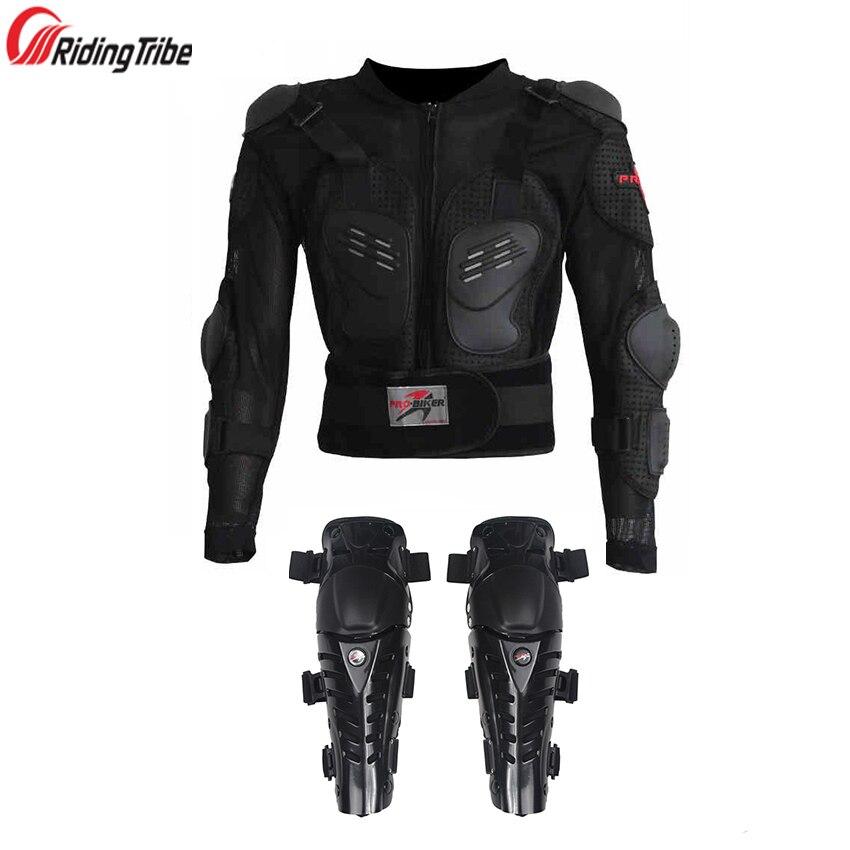 Équitation tribu un ensemble moto vestes armure Motocross Protection du genou moto équipement de Protection moto veste genouillères