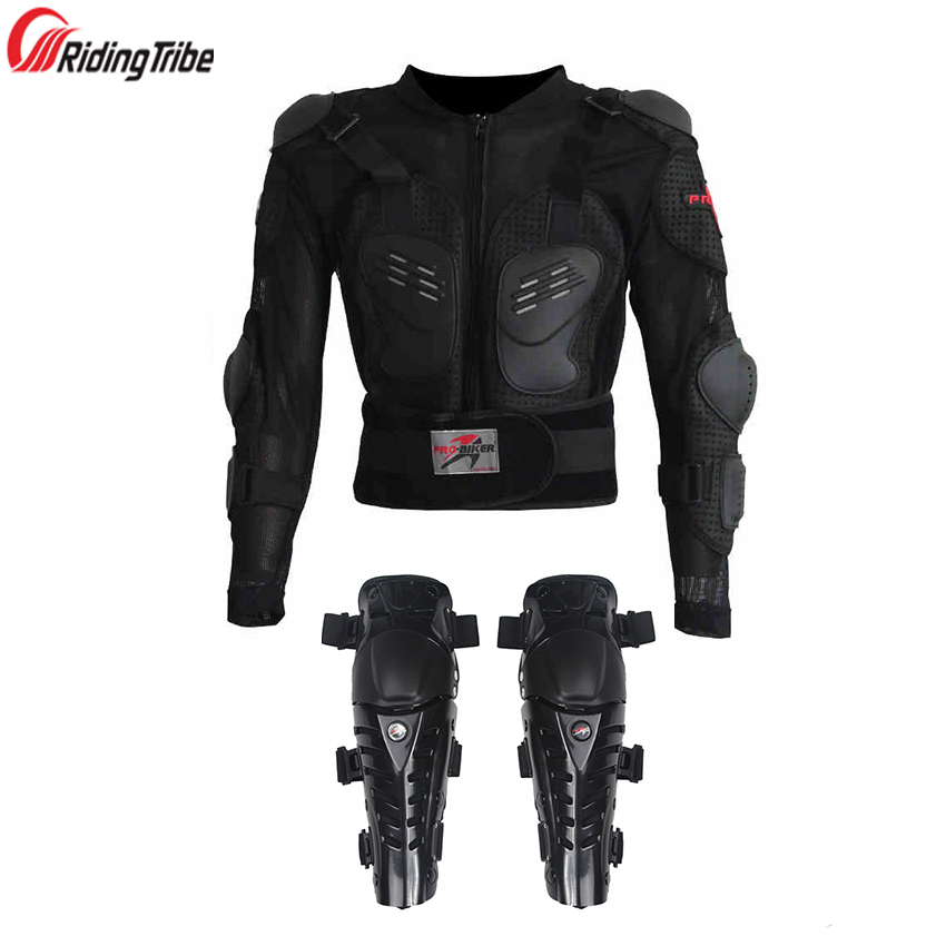 Riding Tribe One Set Motorcycle Jackets Armor Motocross Knee Protection Motorbike Protective Gear Motorcycle Jacket Knee Pads herobiker armor removable neck protection guards riding skating motorcycle racing protective gear full body armor protectors