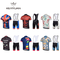 2018 new autumn and winter cycling jersey jersey set quick dry breathable wicking 3D cushion outdoor set KEYIYUAN