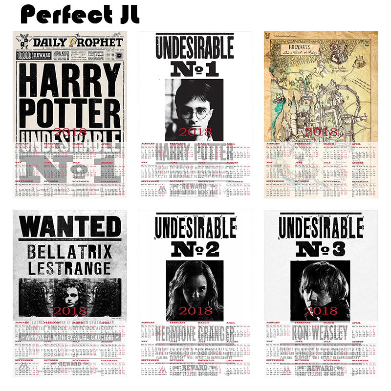 Harry Potter Collection Series 1 2018 Calendar Home