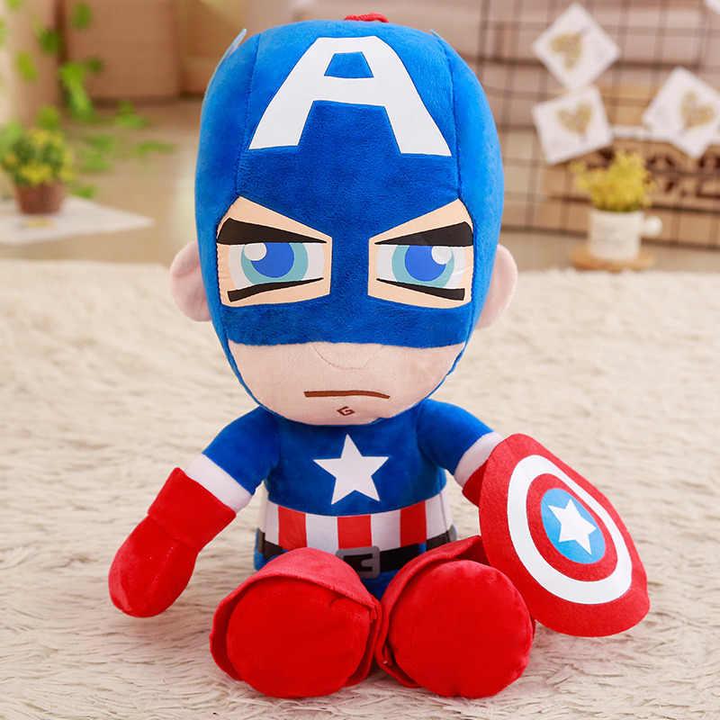 1 adet 35 cm Yumuşak Doldurulmuş Süper Kahraman Kaptan Amerika Demir Adam Örümcek Adam peluş oyuncaklar Avengers Film Bebekler Çocuk doğum günü hediyesi