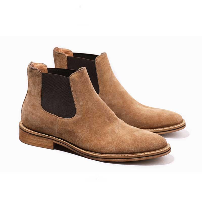 841108b46 Negocios Chelsea Botas Cuero Para Black Casuales brown Italianos Zapatos  Vaca Tobillo Ante Grimentin De Hombre TfHgxq