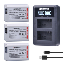 Batmax 3X 2000mAh NP-FW50 NP FW50 Camera Battery + LED USB Dual Charger for Sony Alpha a6500 a6300 a6000 a5000 a3000 NEX-3 a7R