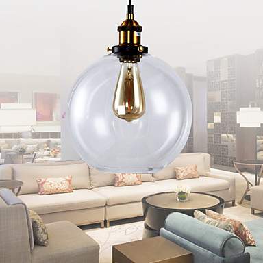60W Edison Loft Retro Style Vintage Industrial Lighting Pendant Lamp With  Glass Shade Lampen Lamparas In Pendant Lights From Lights U0026 Lighting On ...