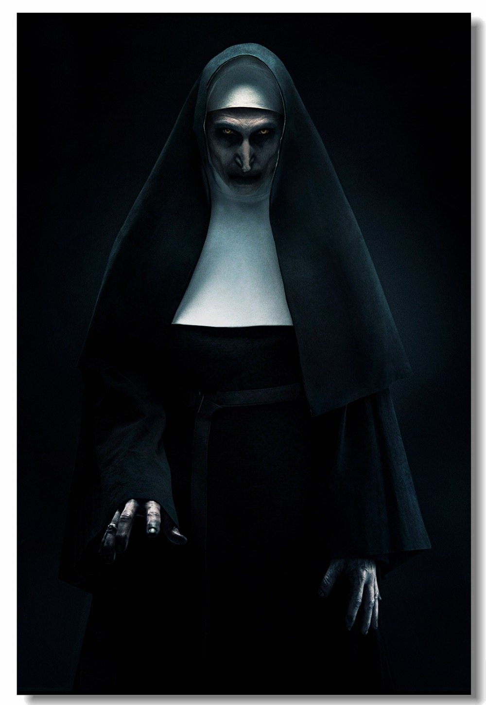 Us 559 30 Offcustom Canvas Wall Mural Horrible Movie Poster Bonnie Aarons Wall Sticker Conjouring Universe The Nun Wallpaper Decoration 0082 In