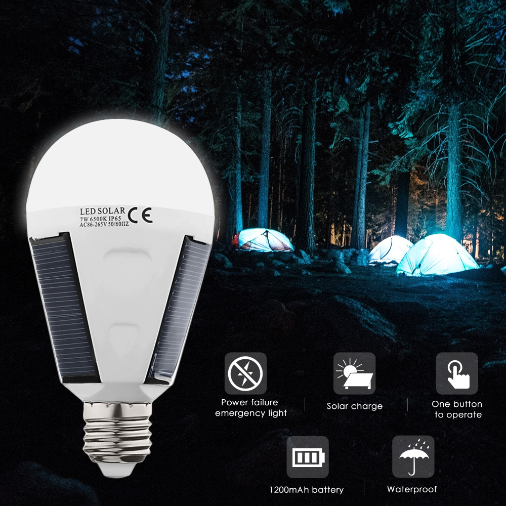 US $8 76 36% OFF|Original 7W Solar LED Bulb Energy Saving Outdoor LED Light  Lamp For Camping Hiking Fishing Waterproof High Brightness 2018 Hot-in LED