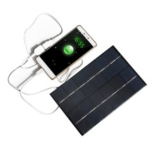 6V 4.2W Solar Panel Phone Charger Polycrystalline Silicon Solar Cell Mobile Charger Mobile Phone Power Bank USB Output