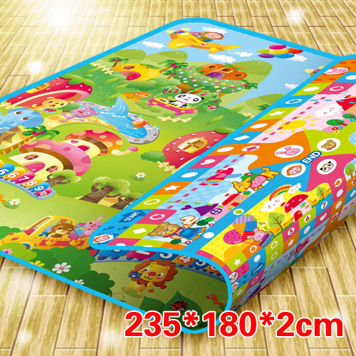 Flight chess animal double faced baby crawling pad thickening 2cm 235 180cm chinese chess 2 thick double faced laser line bamboo dual board set child 331 1pcs lot