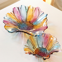 European Style Glass Storage Fruit Tray Italian Creative Fruit Plate Dried Fruit Plate Ornaments Decorative Wedding