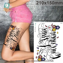 LC825/New 2015 3D Big Temporary Fake Tattoos Stickers Flower Letter Designs