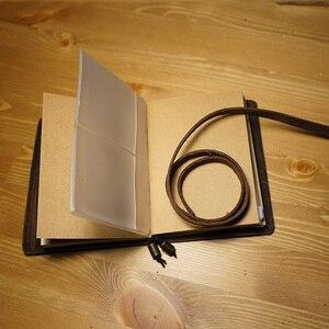 Image 3 - Hatimry genuine leather notebook travelers journal belt bound notepad handcrakt vintage notebook sprial refill school supplies