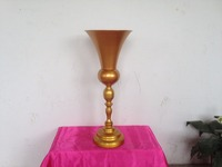 10pcs Luxury Wedding Gold Metal Table Stand,Banquet Flower Vase,Wedding Props,Party Table Centerpiece Height of 62cm