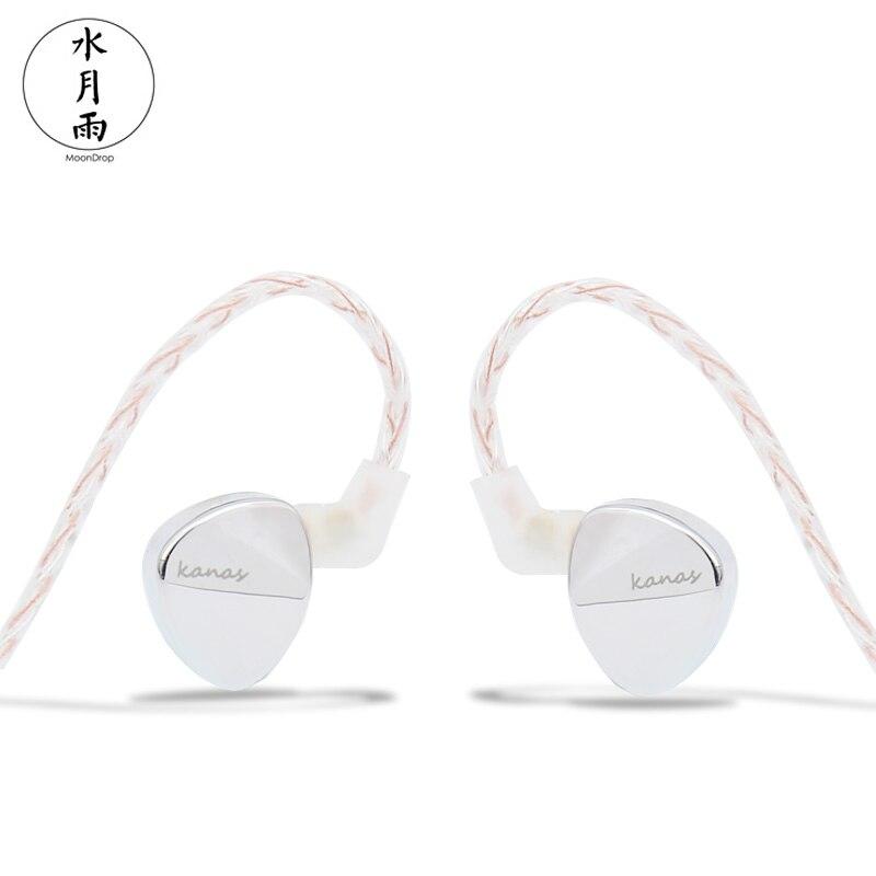Moondrop Kanas Pro edition DLC Dynamic In-Ear Earphone Silver moondrop kanas dlc cable detachable dynamic in ear earphone